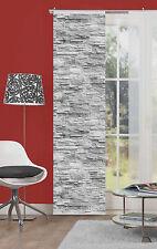 Flächenvorhang Schiebevorhang digital bedruckt 60x245cm Walli anthrazit natur
