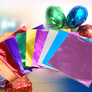 100Pcs Chocolate Foil Sweet Confectionary Candy Party Gift Wrapper Paper 80X80mm