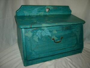 Caja de metal para pan con tapa de madera blanco Xbopetda