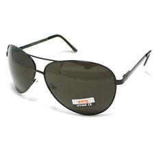 Men's Classic Cop Pilot Metal Aviator Fashion Sunglasses Black