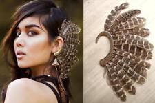 Feather Ear Cuff, Music Festival Jewelry Accessory, Burning Man, Gypsy Boho