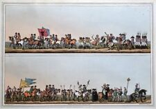 BISHOP BLAIZE PROCESSION, COSTUME OF YORKSHIRE Walker antique print 1814