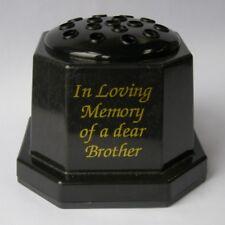 Plastique noir In Loving Memory of a cher frère Tombe Mémorial Pot de fleur vase