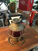 RARE ANTIQUE ADLAKE RELIABLE WESTERN MARYLAND RAILROAD LANTERN - VERY RARE