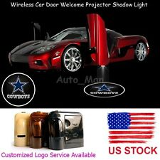 2x Dallas Cowboys Logo Wireless Car Door Projector Puddle Shadow CREE LED Lights