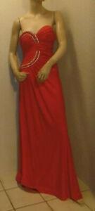 rotes Abendkleid / Ballkleid mit Perlenbesatz Gr. S/M von F&Girl ungetragen #21
