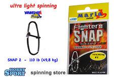 YAMASHITA ULTRA LIGHT SPINNING SNAP 2 -  110 LB FIGHTER SNAP 477214