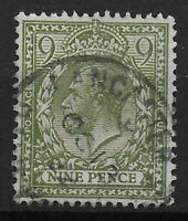 SG393a.  9d.Olive Green. Very Fine Used With Full Perfs & Good Colour.  Ref:0511
