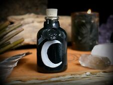 Witches Black Crescent Moon Potion Bottle Skull Wax Seal Witchcraft Pagan Wiccan