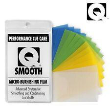 Q SMOOTH Pool cue shaft Micro-Burnishing Film Performance Billiard Pool Cue Care
