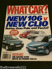 WHAT CAR? - 106 v CLIO - JULY 1996