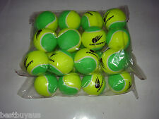 24 STAGE 1 LOW COMPRESSION TENNIS BALLS. 25 SLOWER BALL FOR 9-10 AGE PLAYERS