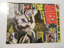 OCTOBER 1985 DIRT RIDER MAGAZINE,MR.MAGOO, CAN-AM,HUSKY,KTM FOR 1986,CARLSBAD