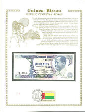 500 Pesos GUINEA BISSAU Banknote WORLD CURRENCY COLLECTION Paper Money UNC Stamp