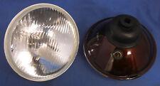 "2 X JAGUAR LHD HALOGEN H4 7"" HEAD LAMP + SIDE LIGHT XJ6 SERIES 3 DS420 S8001"