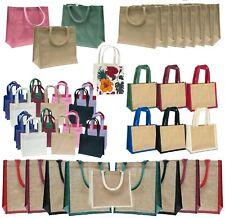 Jute Hessian Plain Shopping Bag Shopper Eco Natural Reusable Wholesale Bags UK
