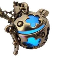 Wishing ball Fairy Magical Fairy Glow in the Dark Necklace-Blue-bronze Steampunk