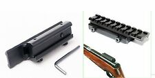 """Scope Adapter Rail Mount Crossbow Airgun 3/8"""" Dovetail to 7/8"""" Weaver 11 to 20mm"""