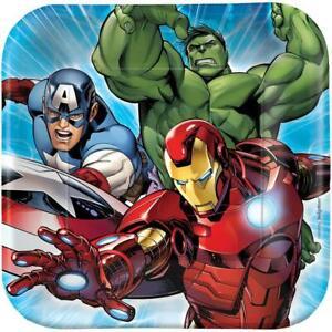 Avengers Assemble Dessert Plates 8 Ct Birthday Party Supplies Hulk Iron Man New