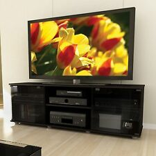 Black TV Stand Entertainment Center Media Console Storage Furniture Modern Table
