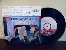 """EP 7""""  COLETTE RENARD 15 - Petite annonce sentimentale - EX/EX + LANGUETTE 7.726"""