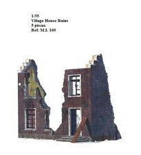 WWII diorama village house ruins 1/35 accessories building