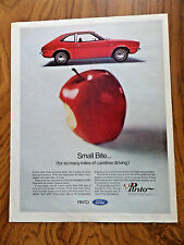1971 Ford Pinto Ad   Small Bite for so many miles of Carefree Driving