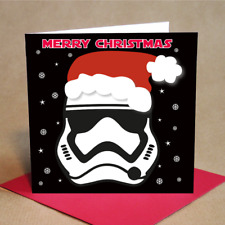 Stormtrooper Style Christmas Cards Pack of 6 (Small)