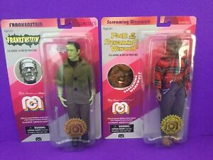 "Mego 8"" Green Frankenstein #906 (#96 Screaming Werewolf Lot of 2 Figures"