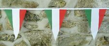 More details for italy flag polyester bunting - various lengths