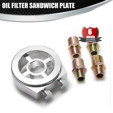Oil Filter Sandwich Plate Adapter Oil Cooler fit M20*1.5(1PCS),3/4-16 UNF(1PCS)