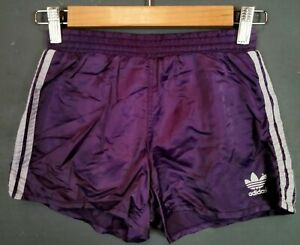 VINTAGE STYLE ADIDAS MADE IN SLOVENIA SHORTS PANTALONES PURPLE SIZE YOUTH M D140