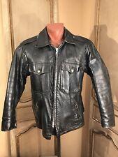 Vtg Police Cop Horsehide Barnstormer Motorcycle Jacket Coat Size 42 Large Rare!