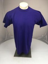 Vtg 90s Jerzees Plain Purple casual work crewneck SS tshirt Large USA MADE BLANK