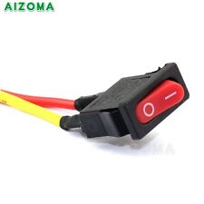 Motorcycle Light Electric Equipment Push Switch On/Off Button Red Universal