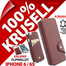 Krusell Kalmar FlipWallet Case for Apple iPhone 6 / 6S Card Slots Note Pocket