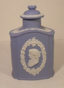 Wedgwood Blue Jasper Ware Tea Caddy