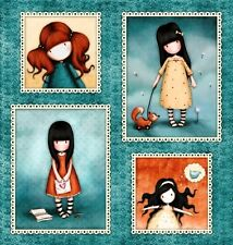 Heartfelt Santoro Gorjuss Girl Girls in Frames 24x22 Cotton Fabric Fat Quarter