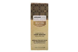 ArganicareHair Serum Ricin,Haarserum mit Rizinusöl & Arganöl, 100 ml