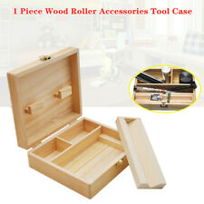 Portable Wooden Storage Box With Sealed Lock Natural Wood Stash Tools Case Box