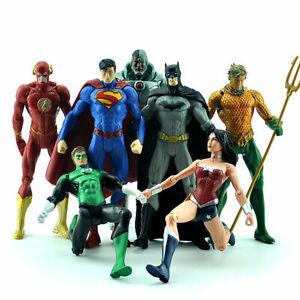 7pcs DC Universe Justice League Aquaman Batman Superman Flash Action Figures Toy