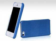 BOROFONE HOCO Crocodile BACK COVER Leather Case for APPLE iphone 5/5s BLUE H239