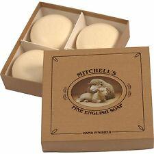 Mitchell's Wool Fat Lanolin Round Bath Soap Gift Set (4 Soaps)