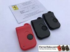 Set of 3 new matching Ferrari remote key fobs with PIN number - OEM Bosch parts!