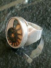 Massiver Ring Ammonit Unikat