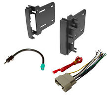 COMPLETE CAR STEREO RADIO DOUBLE DIN INSTALL TRIM KIT CD PLAYER + WIRING HARNESS