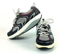 Sketchers Shape Ups 11806 Womens Walking Rocker Shoes Gray Pink Size 7