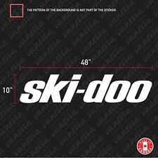 2x SKI-DOO 48 INCHES sticker vinyl decal
