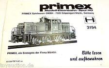 Manual Märklin Primex 3194 68 390 TA 1182 se å