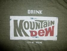 SAVVY Retro Old Style DRINK MOUNTAIN DEW Pepsi Soda Pop T-SHIRT Size Adult XL
